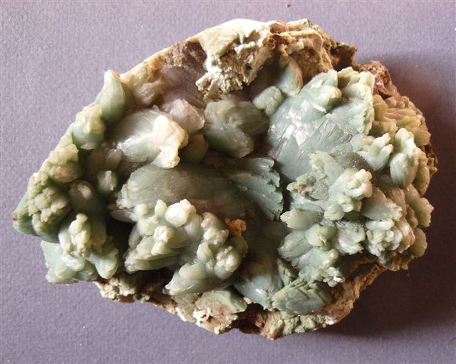 Stilbite verte, Rahuri, Inde. Collection jean83.