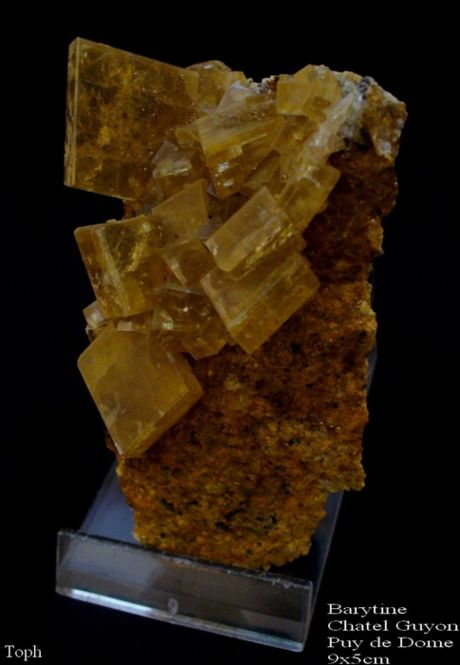Barite, Chatel Guyon, Puy de Dôme (63). Collection toph 63.