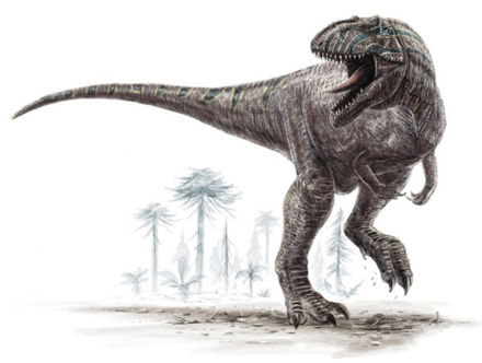 Le dinosaure Giganotosaurus.